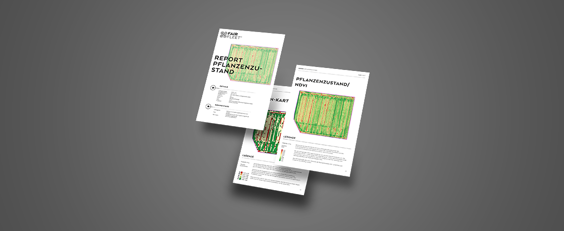 Bild von Berichten eines Pflanzenzustandes und einer NDVI-Karte