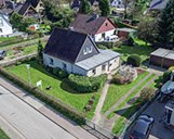 Luftbild einer Wohnimmobilie als Basis für die 3D-Visualisierung des Bauprojektes