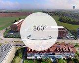 Kugelpanorama eines 3D visualisierten Bürogebäudes in Garching