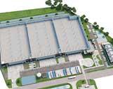 Foto eines 3D Grundriss eines Logistikobjekts
