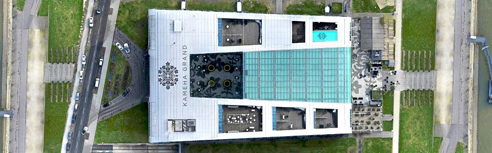 Nähere Abbildung einer 3D Punktwolke von einem Hotel in Deutschland