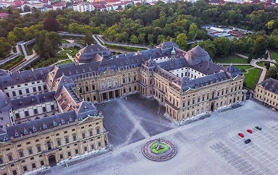 Luftaufnahme der Residenz Würzburg