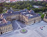 Luftuafnahme der Residenz Würzburg
