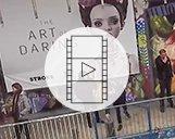 Drohnenvideo der STROKE Art Fair in München als Marketingaufnahme