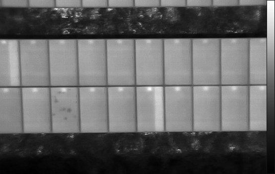 Thermalaufnahme eines Bypass Schadens einer Solaranlage