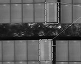 Thermographieaufnahme zweier Photovoltaikanlage mit jeweils zwei Bypass Schäden