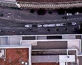Luftbild einer Gewerbeimmobilie aus der Vogelperspektive