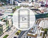 Drohnenvideo des Einkaufszentrums Skyline Plaza in Frankfurt am Main