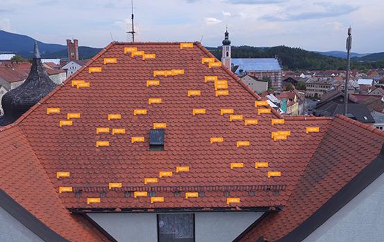 Automatisierte Dachinspektion eines Hauses