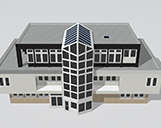 Digitales 3D-Modell von einem Hauptgebäude