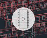 Video eines CAD-Modells eines Gebäudes